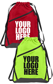 Red and green drawstring bags - YSW