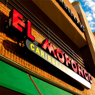 Front lit channel letters and cabinet sign - El Mofongo Restaurant