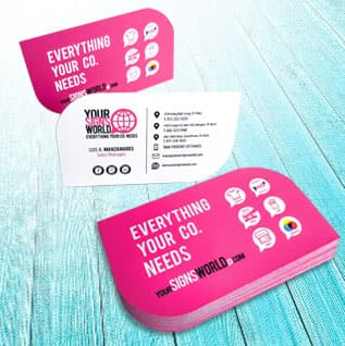 Special Shape Business Cards by YSW