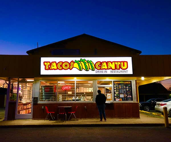 Cabinet Sign for Tacos Cantu by YSW