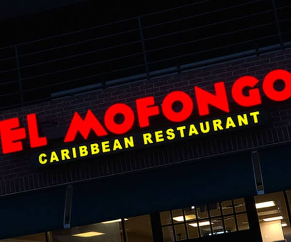 Front Lit Channel Letters for El Mofongo Restaurant by YSW