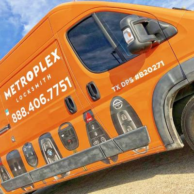 Full Vehicle Wrap - LockSmiths Metroplex Van (clouse up)
