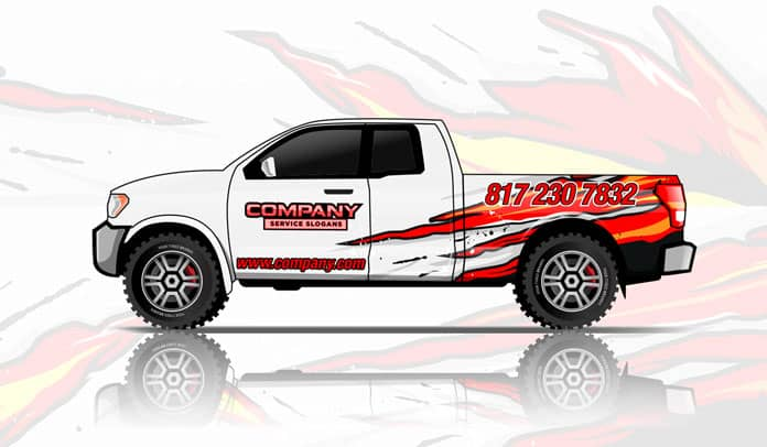 Your Signs World Partial Wrap - White Truck